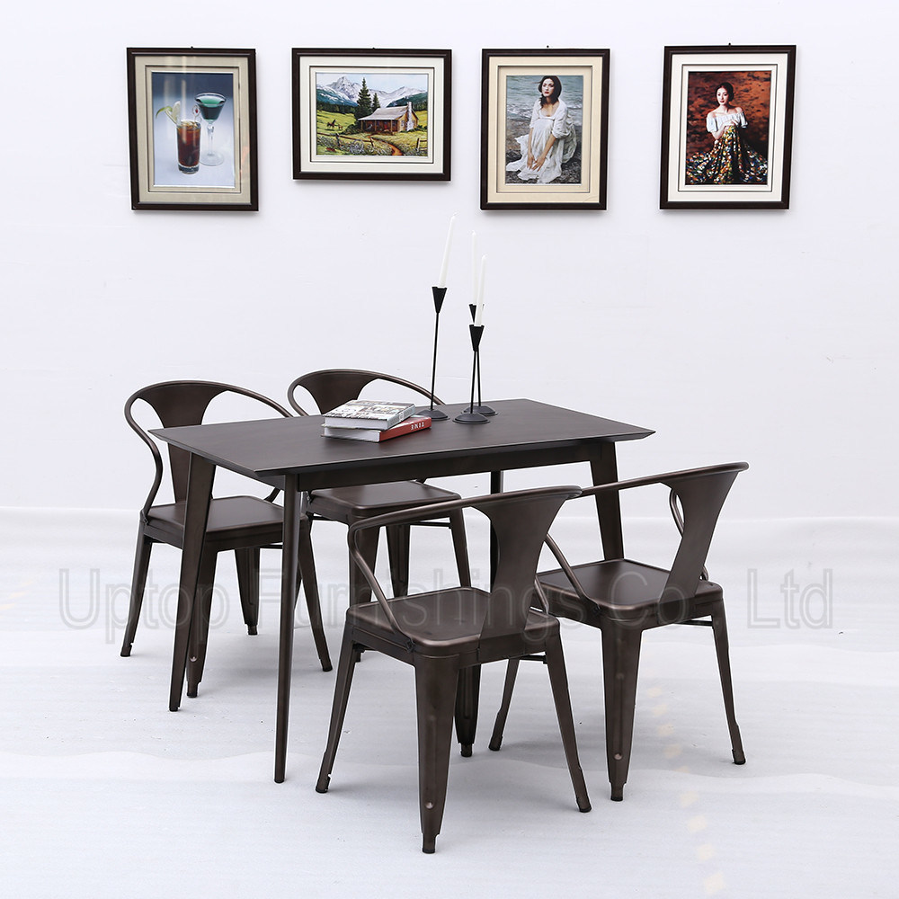 Metal Retro Style Industrial Table and Chair for Cafe (SP-CT765)