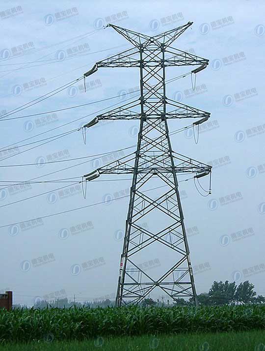 Durable Transmission Lattice Steel Line Tower