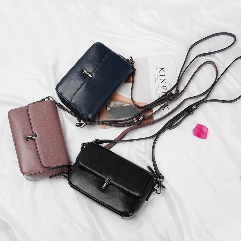 Al90043. Shoulder Bag Handbag Vintage Cow Leather Bag Handbags Ladies Bag Designer Handbags Fashion Bags Women Bag