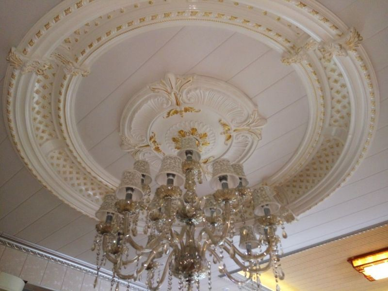 High Density PU (polyurethane) Ceiling Medallions Lamp Pool for Ceiling Decoration
