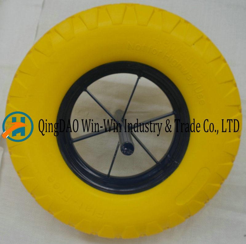 16*4.80/4.00-8 PU Wheel for Wheelbarrow