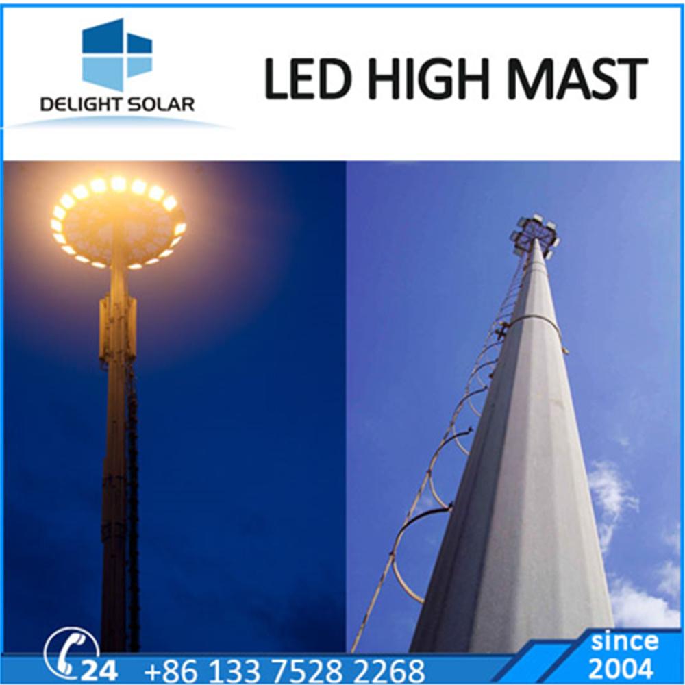 18m/20m/30m Polygonal/Conical Steel Pole Lighting Tower High Mast Lamp