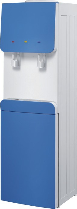 Floor Standing Water Dispenser With Compressor And Refrigerator Cabinet