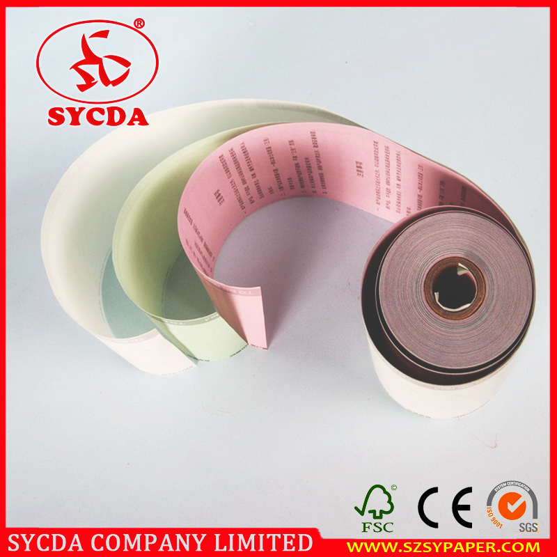 Competitive Price 63G Carbonless Paper Roll 3-Ply
