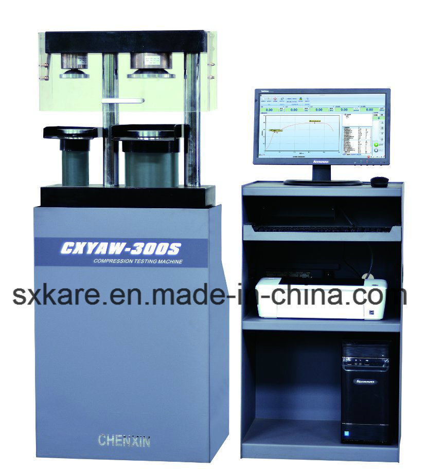 0.5 Grade Computerized Servo Type Cement Flexure and Compression Testing Machine (CXYAW-300S)