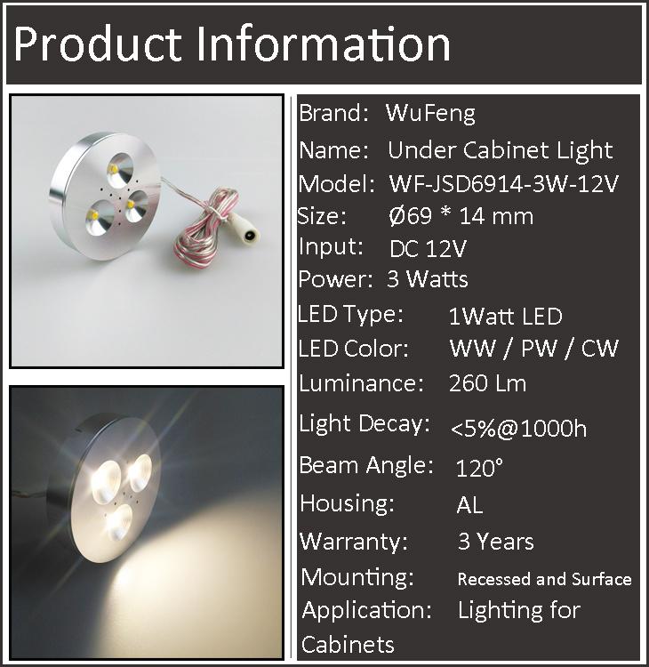 3 Watt Under Cabinet Light