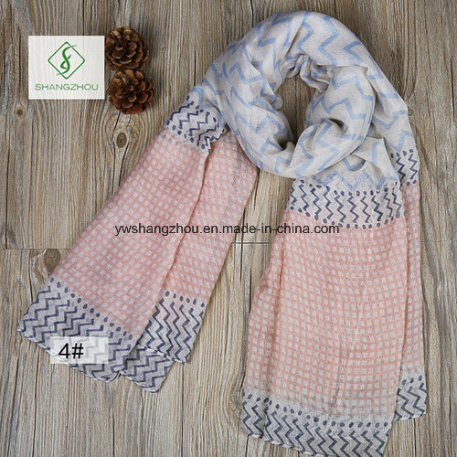 2017 New Design Printed Viscose Shawl Fashion Lady Scarf Factory