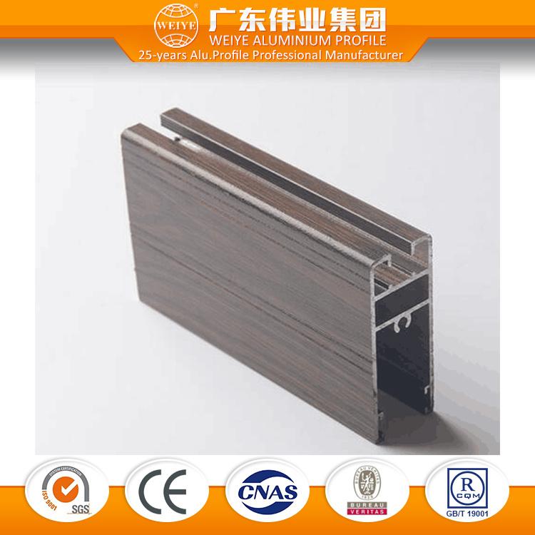 6063 Series Wood Grain Aluminium Window and Door Profile