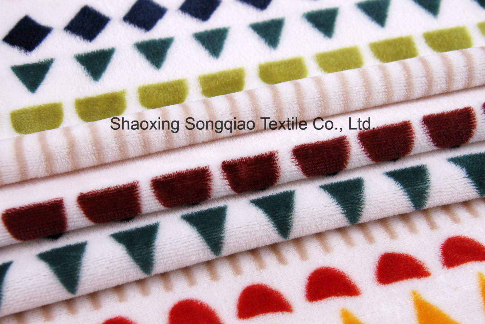 Printed Polyester Flannel/Coral Fleece Fabric - 16050-4 1#