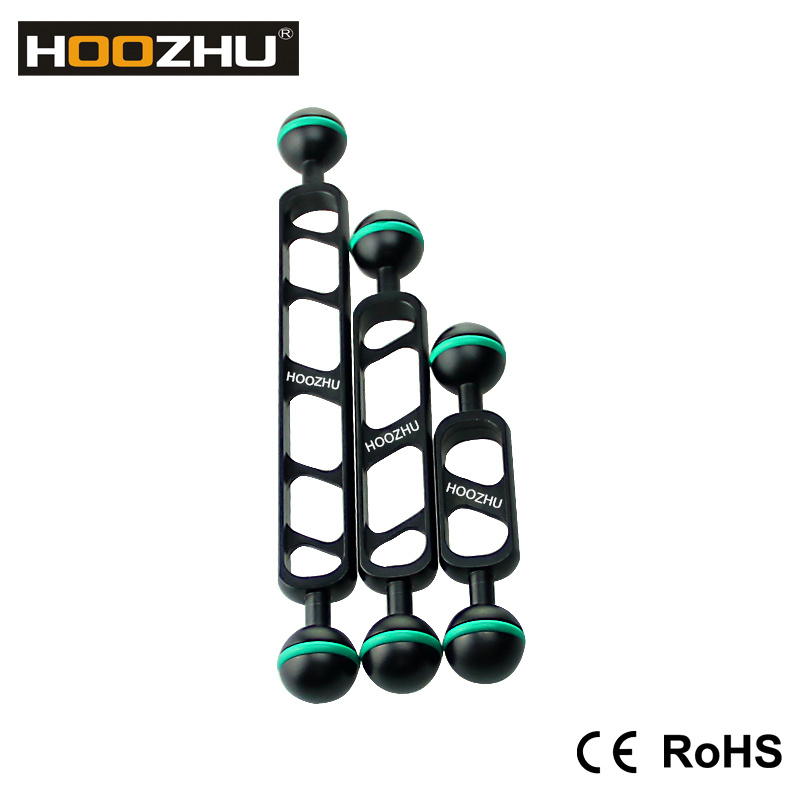 New! Hoozhu S70 7inch Double Ball Head Support for Diving Camera &Diving Video Light