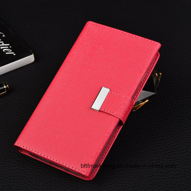 Luxury 3 Folded with 14 Card Slots PU Wallet Case for iPhone and Samsung
