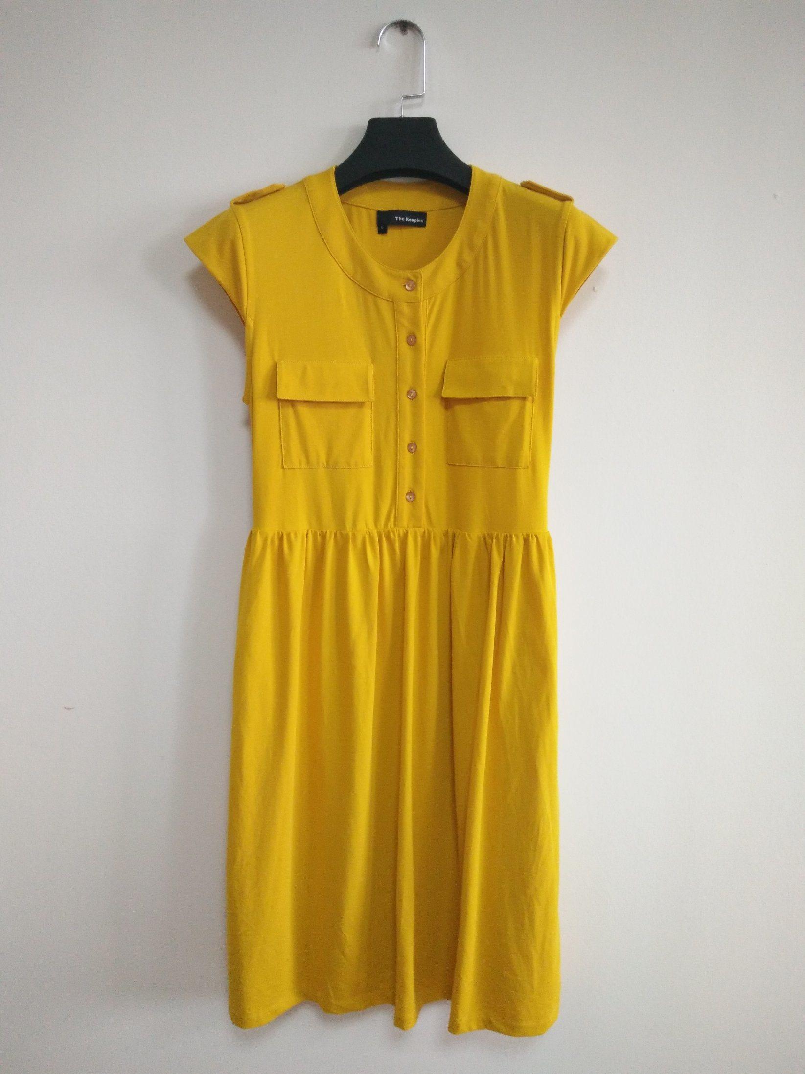 2018summer Lady′s Dress, Yellow, Lovely, Pretty, Beautiful, Nice