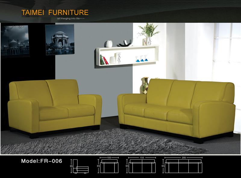 Comfortable Modern Leather Sofa (1+2+3)