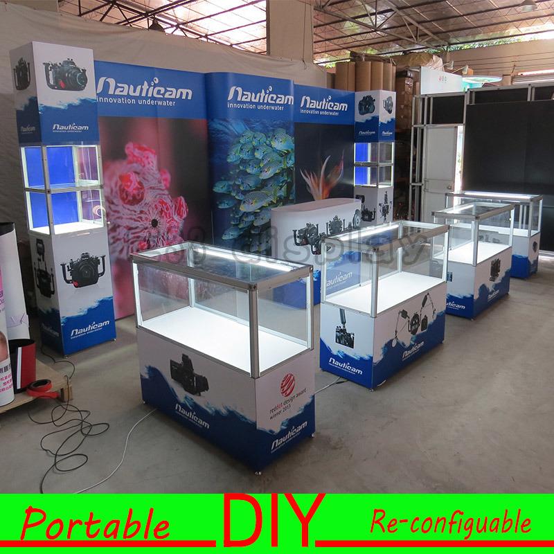 Custom Portable Modular DIY Trade Show Exhibition Display Showcase