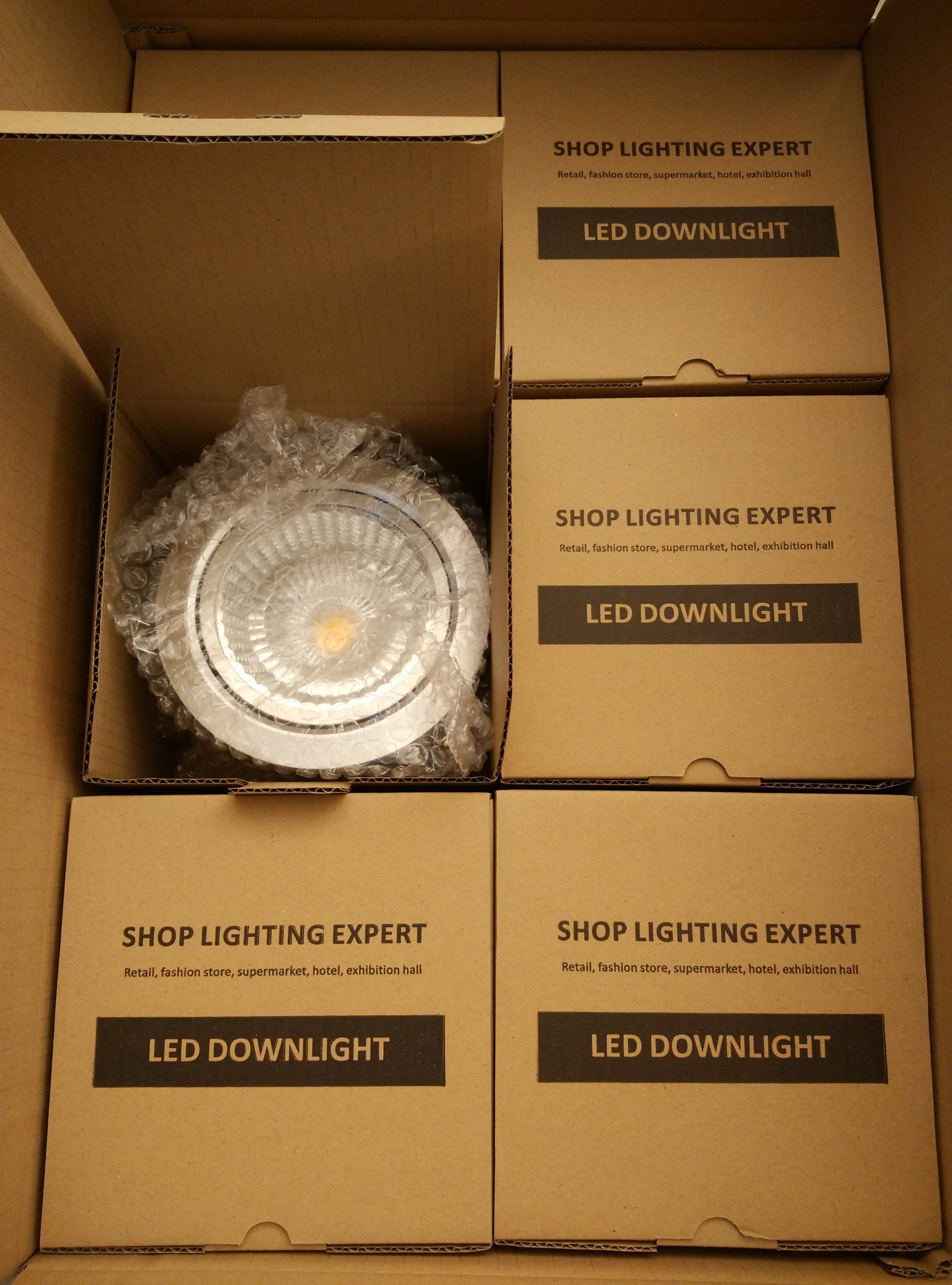 15W CREE COB LED Downlight for Shop/Hotel/Mall Commercial Lighting