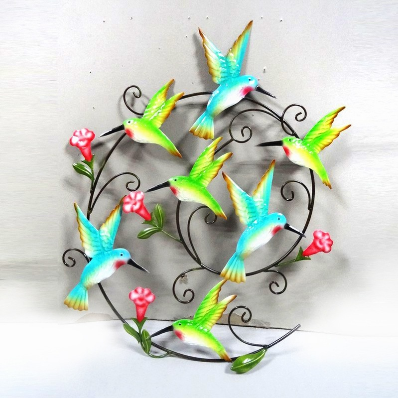 Absorbing Pastel Garden Metal Wall Art Butterflies Craft