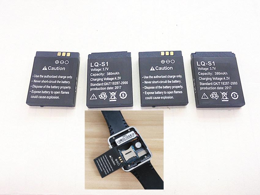 Original Rechargeable Li-ion Battery 3.7V 380mAh Smart Watch Battery Replacement Battery for Smart Watch Dz09 A1 V8 X6