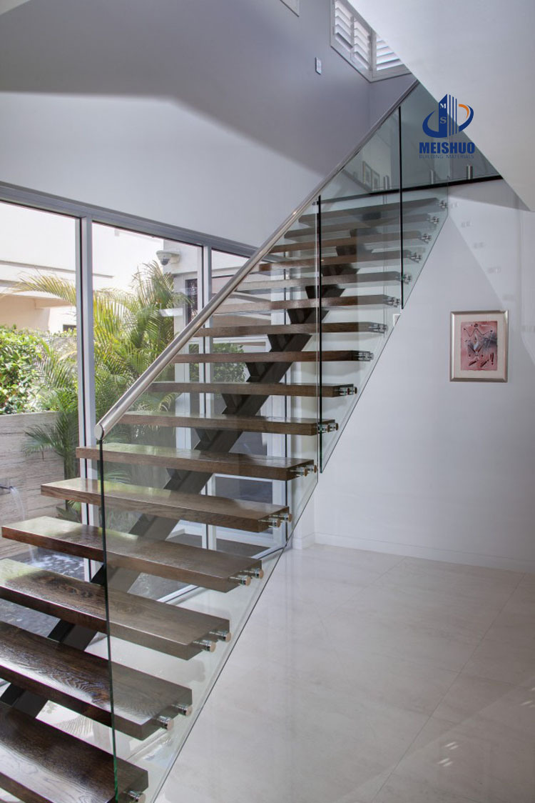 Indoor Stainless Steel Glass Stair Balustrade Handrails