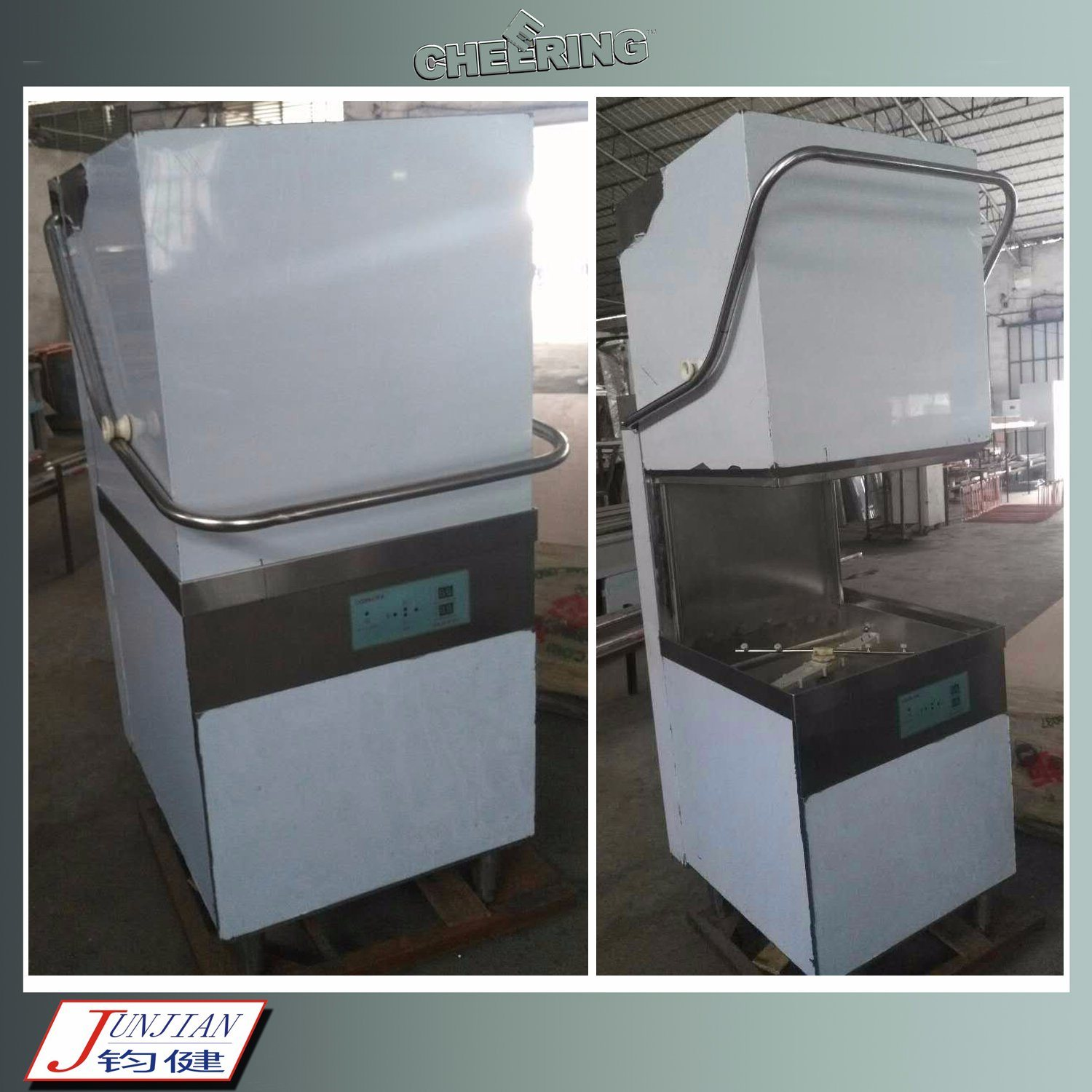 Cheering Commercial Stainless Steel Ultra High Temperature Dishwasher for Cleaning
