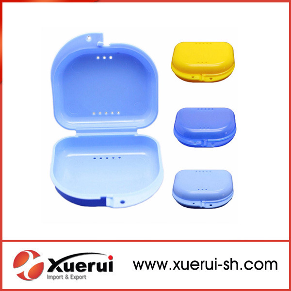 Dental Retainer Case, Denture Storage Box, Plastic Denture Box