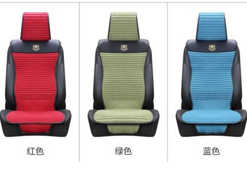 Flax Car Seat Cushion Slim Shape