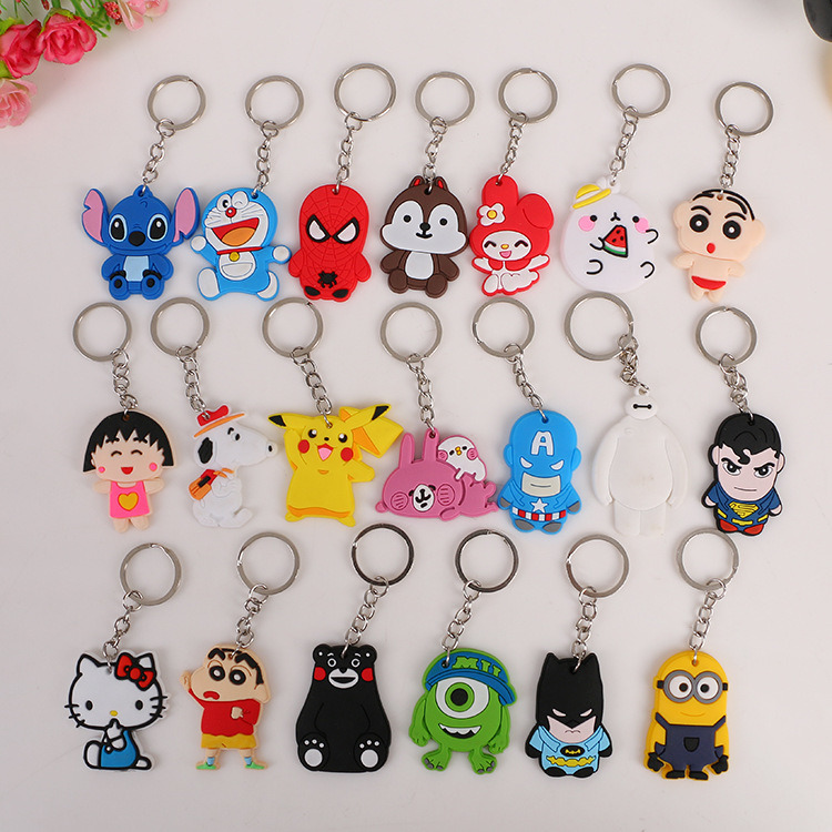 Promotion Custom Soft PVC Keychain with Logo Printing