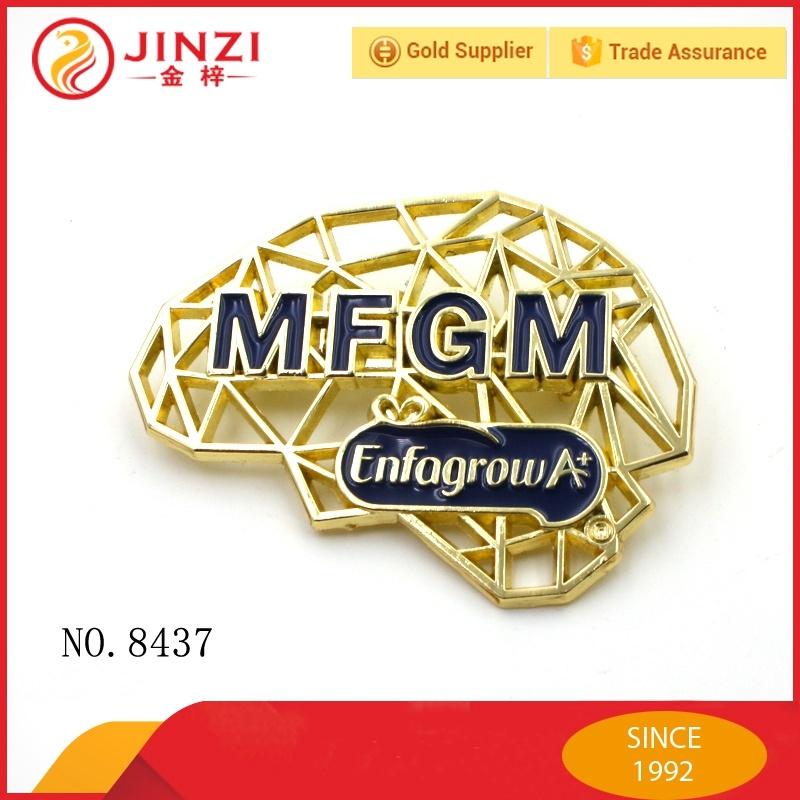 Factory Supplier Custom Die Casting Metal Logo Plate for Handbags