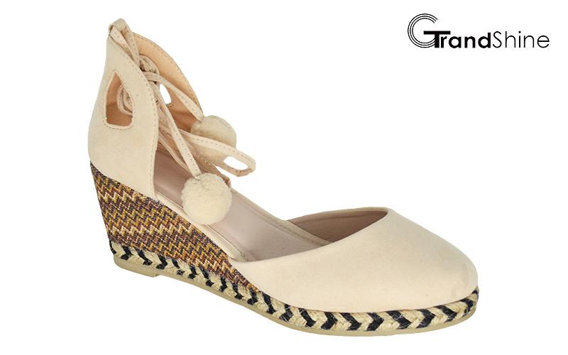 Women′s Espadrille Wedge Fashion Sandals
