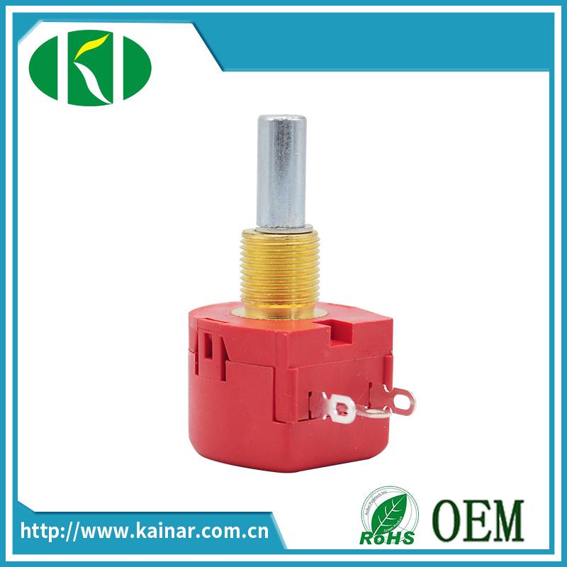Long Shaft 5k 10k Precision Single-Turn Wirewound Potentiometer Wx118