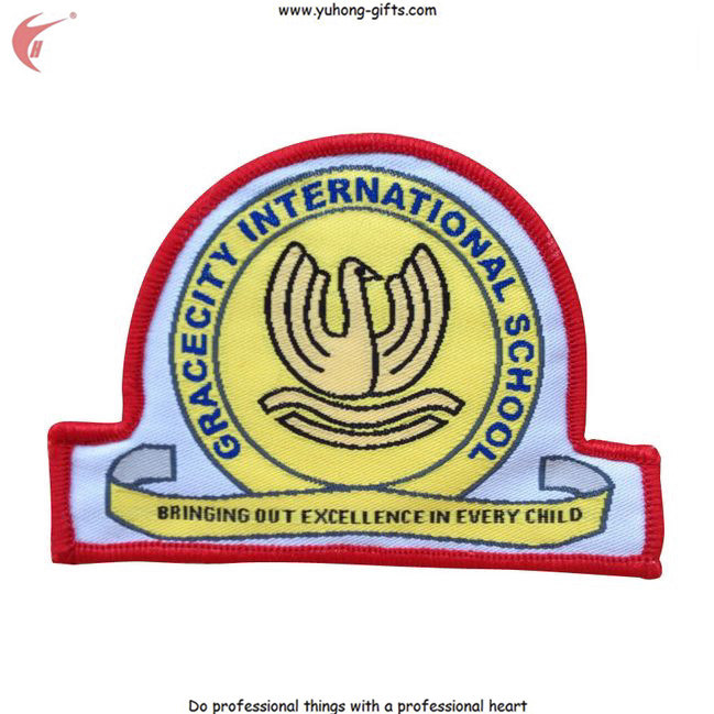 School Uniform Embroidered Badge Back with Magic Tape or Iron-on (YH-WB031)