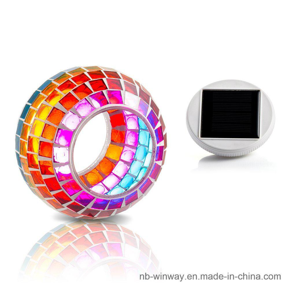 Solar Glass Mosaic Night Light