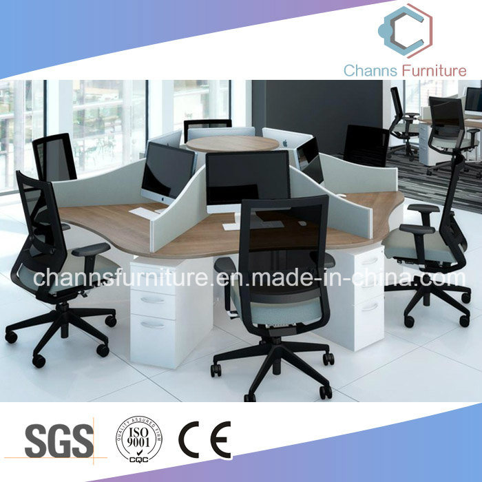 Modern Furniture Cross Computer Desk Office Table Workstation with Partition