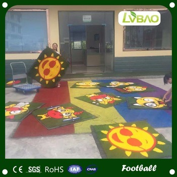 Colorful DIY Kindergarten Decoration Playground Grass Floor