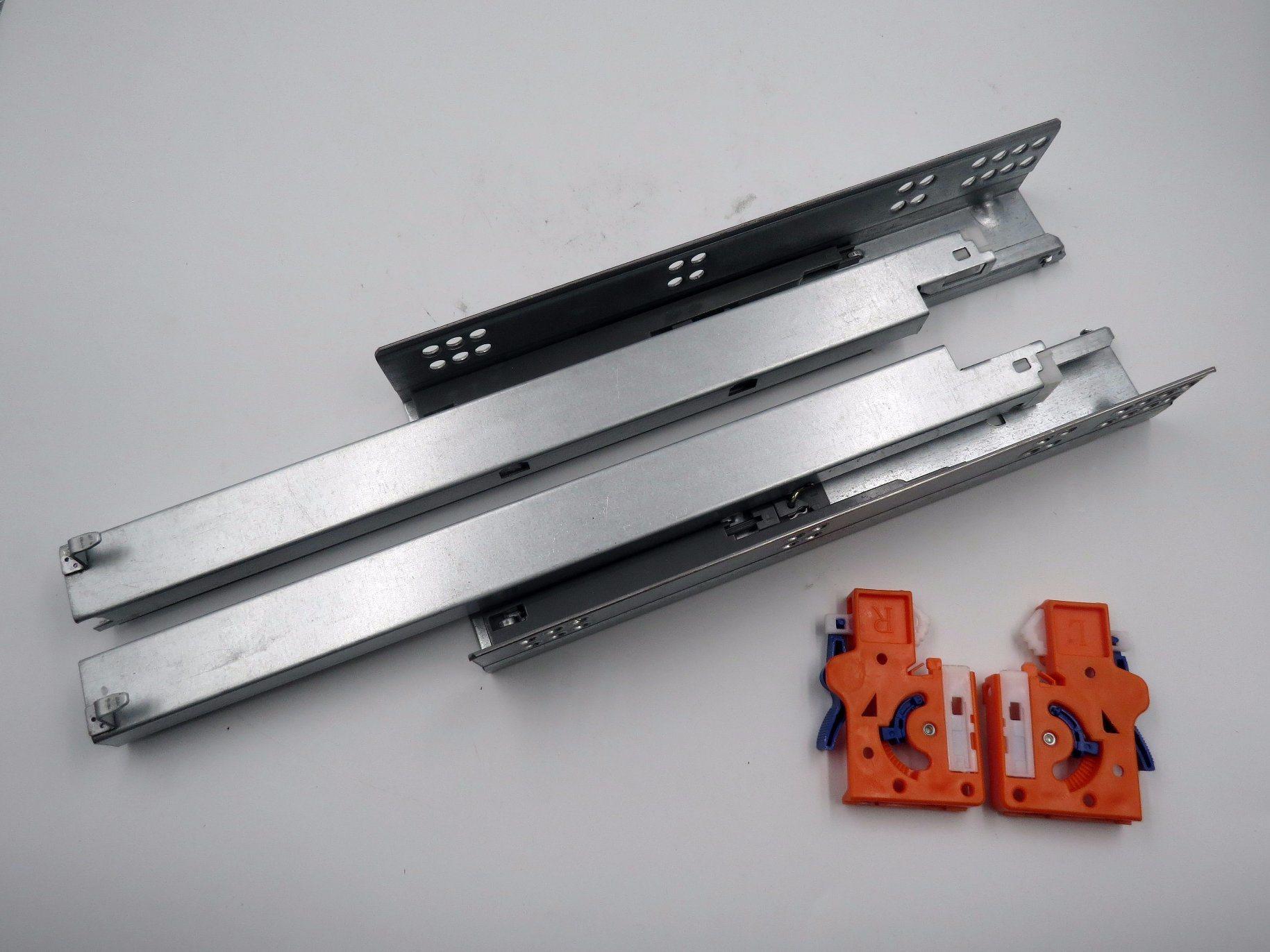 Handle Locking Type Drawer Runner Push Open Concealed Slides