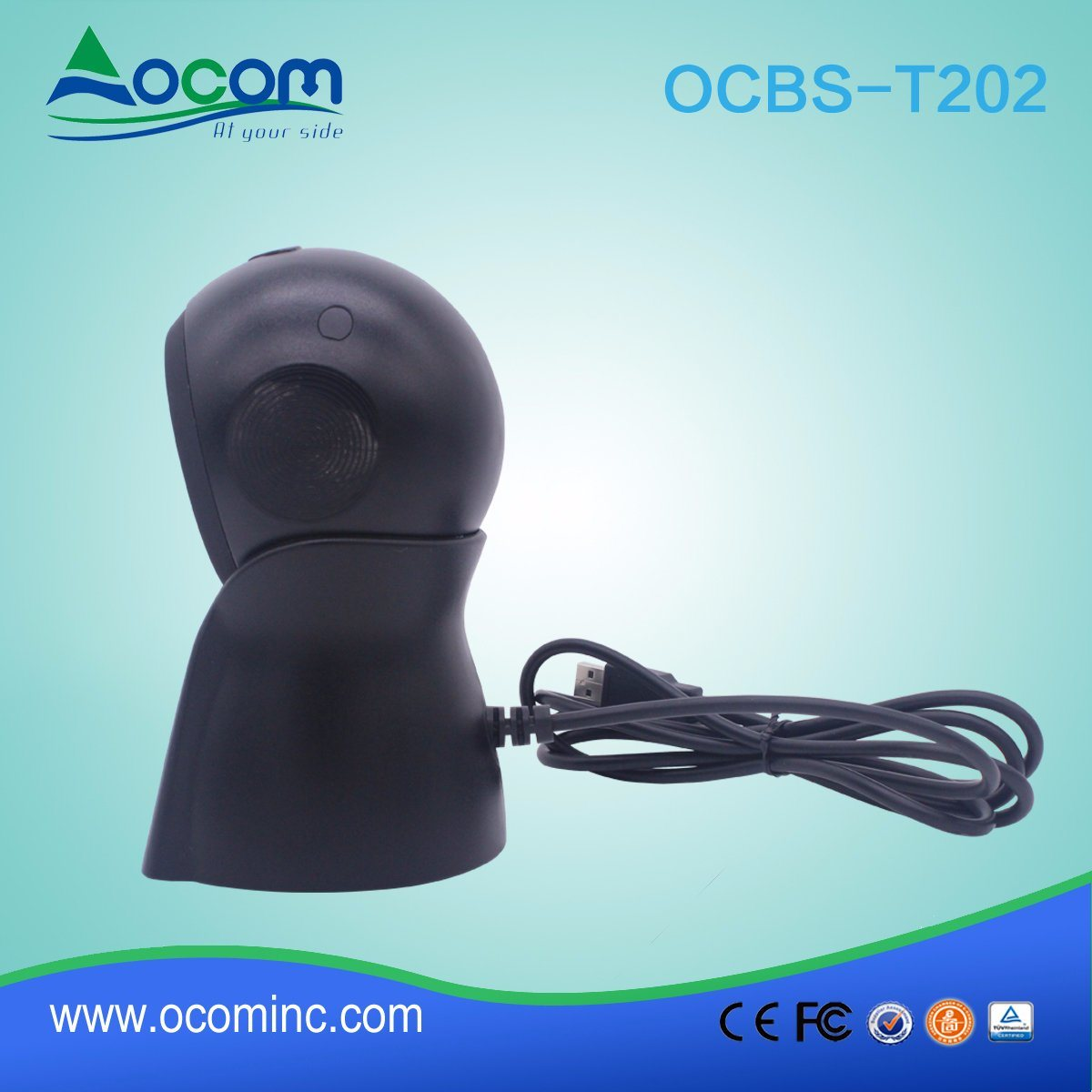 New Design Desktop 2D Omni-Dorectional Qr Barcode Reader