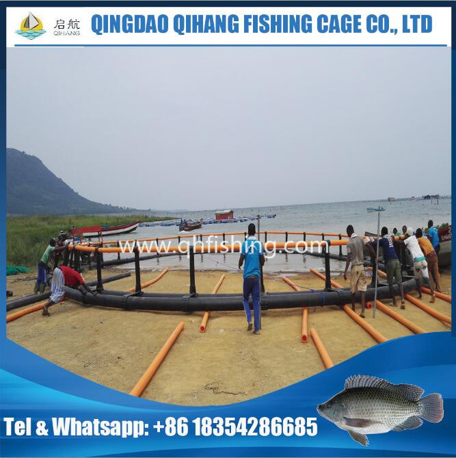 Fish Farming Use HDPE Net Cage in The Sea