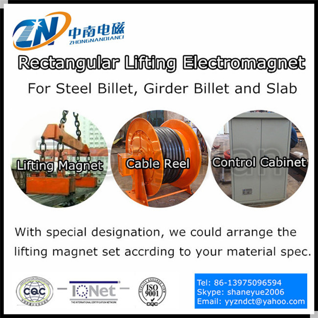 Rectangular Lifting Electro Magnet for Steel Billet Handling MW22