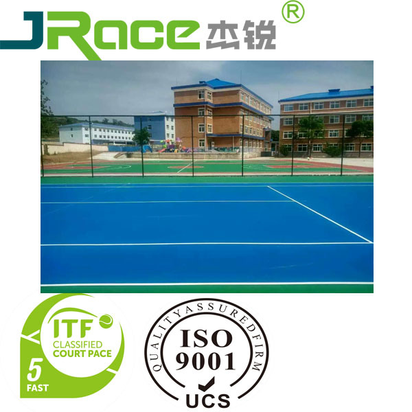 Blue Outdoor Silicon PU Court Sport Surface for Basketball/Tennis/Vollyball/Badminton