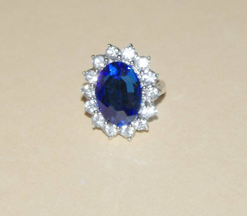 China Blue Sapphire Finger Rings China Finger Rings Diana Ring