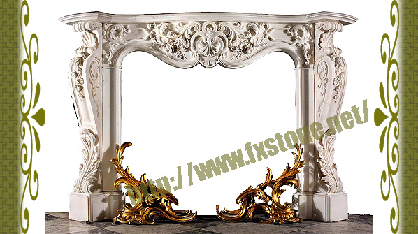Marble Carved Stone Fireplaces Mantel