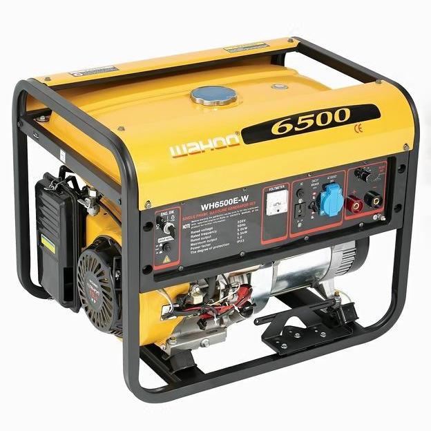CE Certificate Honda Engine 5kw Gasoline Welding Generator (WH6500E-W)