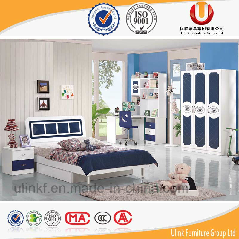 2016 Hot Sale Colourful Wooden Kids Bed Children Bedroom Furniture (UL-HE803)