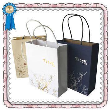 China gift bag craft paper bag china t shirt packing for Craft paper gift bags