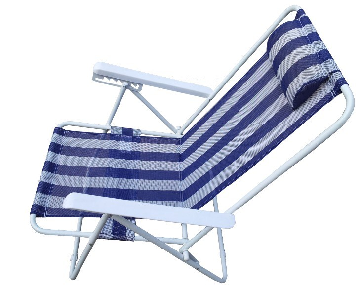 5 Positions Adjustable Armrest Beach Chair