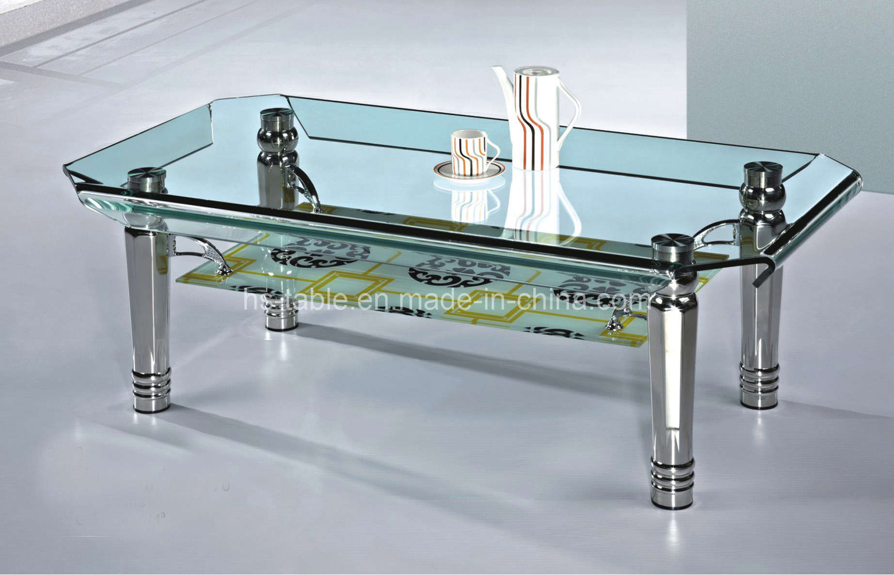 China bend glass top bend glass coffee table 2272 china glass coffee table glass tea table Coffee tables glass top