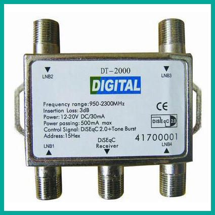 Satellite Switch, Satellite LNB Switch FTA Dish Lnbs Switch (401B)