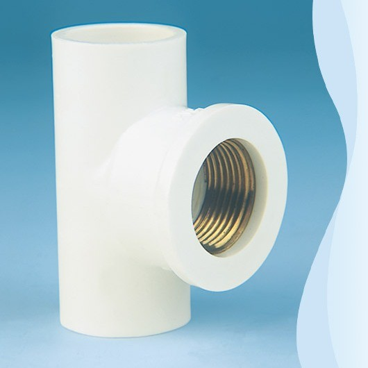China pvc pipe fitting water supply tee by 90 with for Copper to plastic fittings