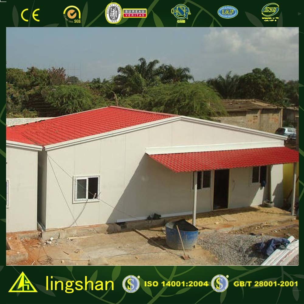 Prefabricated Sandwich Panel House/Steel Frame House (LS-MC-033)