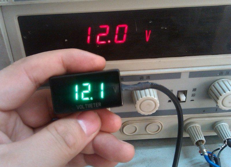 Motorcycle Digital Meter : China digital voltmeter used in motorcycle car