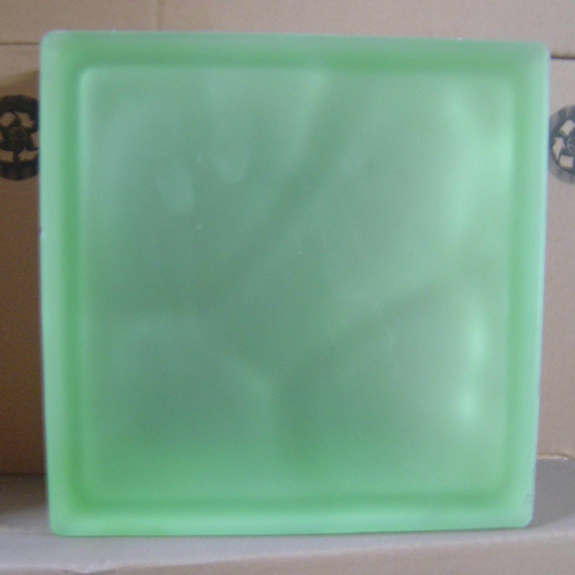 Glass Building Blocks : China acid green building glass block hollow
